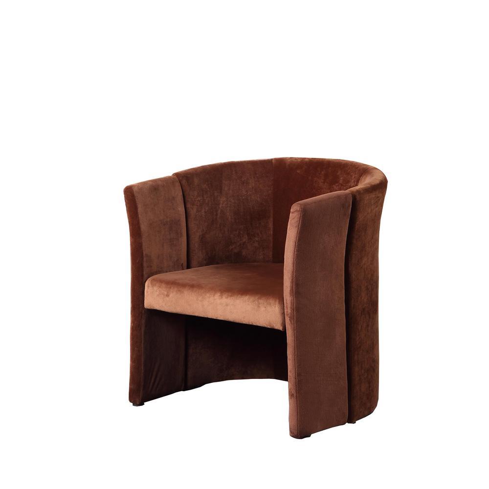 Unbranded 27.25 in. in Brown Suede Microfiber Folding Chair