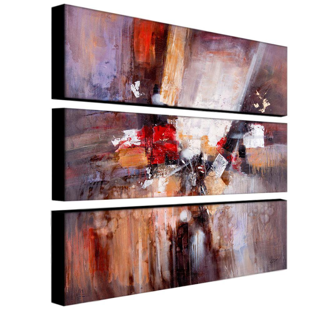 Trademark 10 in. x 32 in. Cube Abstract II 3-Piece Canvas...