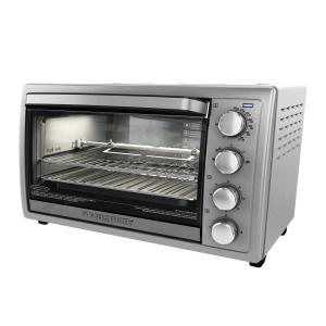 Black & Decker 9-Slice Silver Toaster Oven by BLACK+DECKER