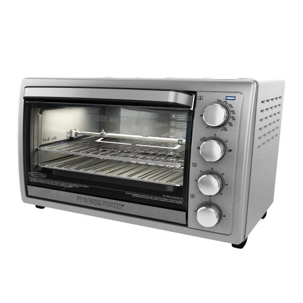 1500 W 9-Slice Silver Toaster Oven with Temperature Control and Built-In Timer