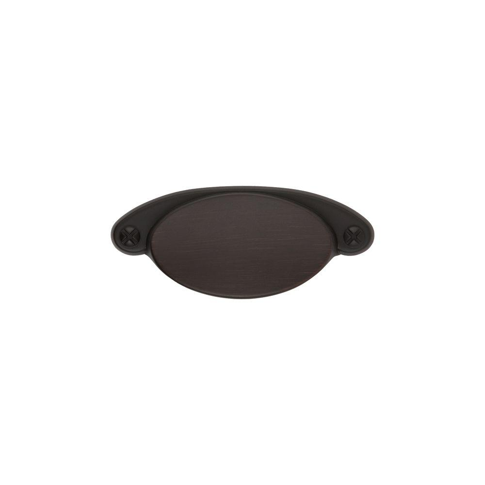 Sumner Street Home Hardware Ovaline 2-1/4 in. Oil Rubbed Bronze Cup Pull