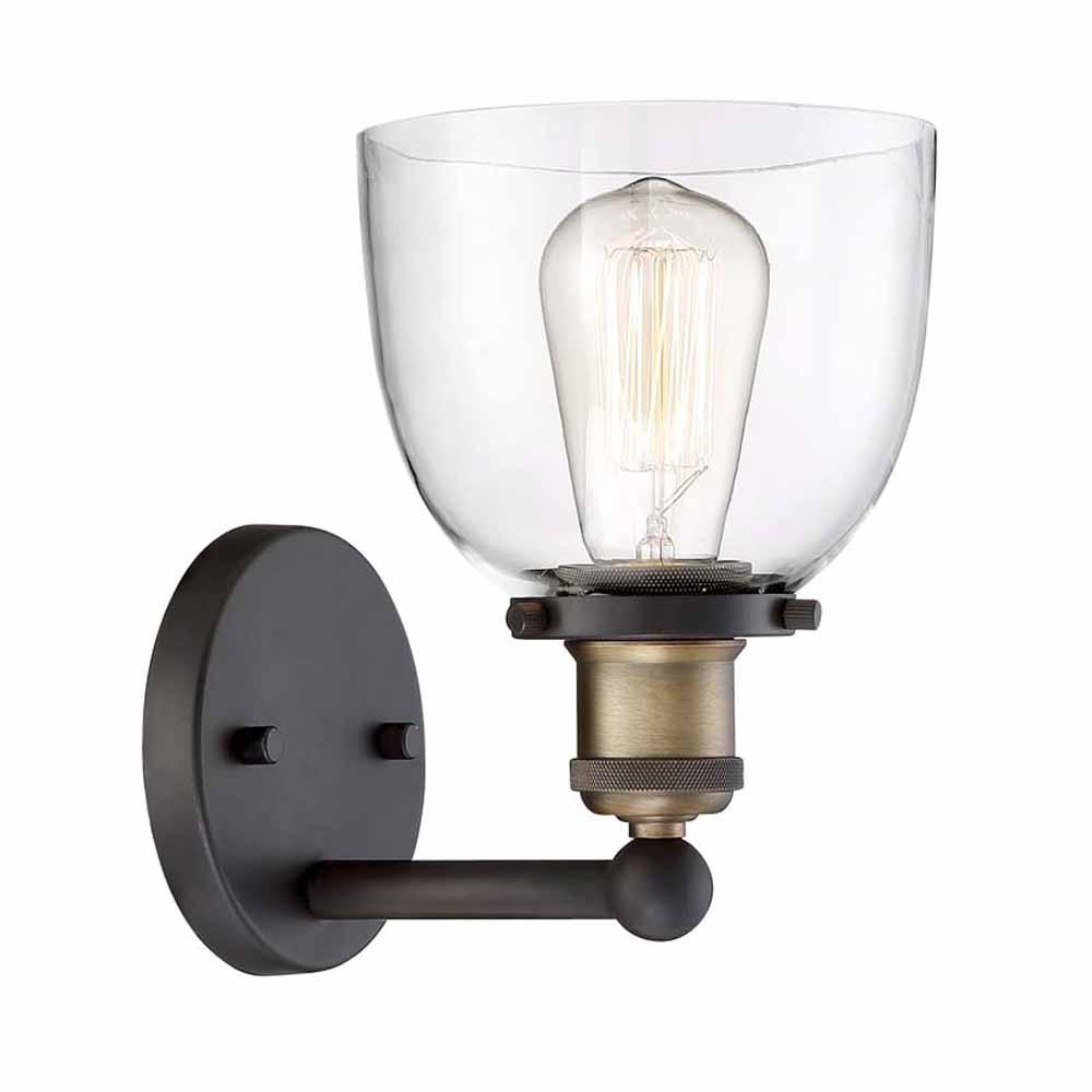 Sconces lighting the home depot 1 light artisan bronze wall sconce aloadofball Image collections
