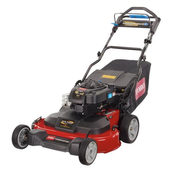 Toro Timemaster 30 In Briggs And Stratton Personal Pace Self Propelled Walk Behind Gas Lawn Mower With Spin Stop 21199 The Home Depot