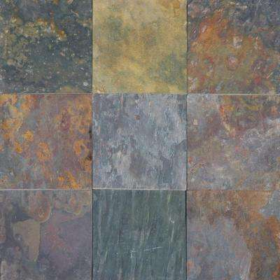 Multi Classic 12 in. x 12 in. Gauged Slate Floor and Wall Tile (5 sq. ft. / case)