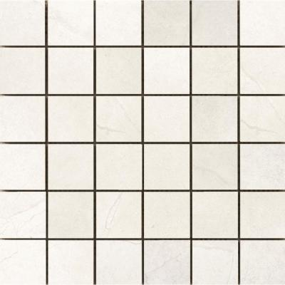 St. Moritz Ii Ivory 11.73 in. x 11.73 in. x 8mm Porcelain Mesh-Mounted Mosaic Tile (0.97 sq. ft.)