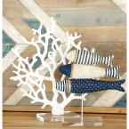 Coral Polystone Sculpture with Multiple Fanned Out Branches in White