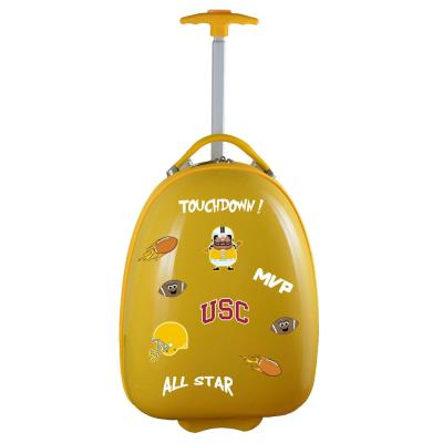 Denco NCAA Southern California 18 in. Yellow Kids Pod Luggage Suitcase