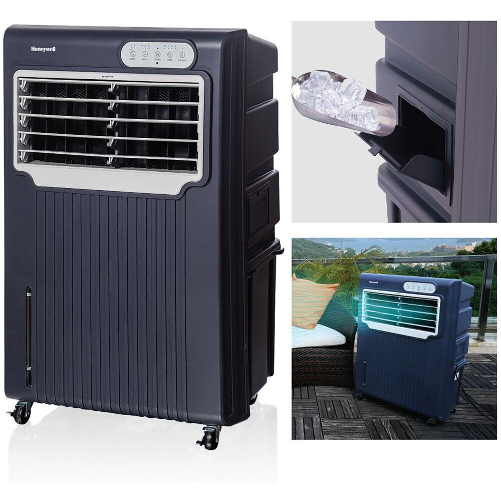 Honeywell Honeywell 588 CFM 3-Speed Portable Evaporative Air Cooler for 342 sq. ft., Grey