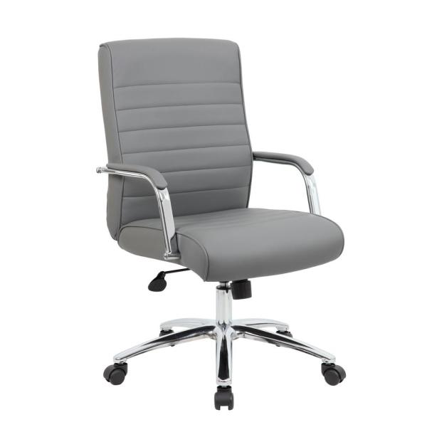 Boss Grey Mid Back Executive Chair B696CRB-GY