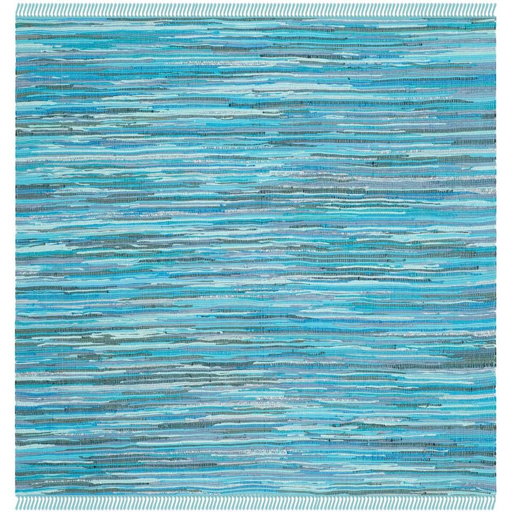 Safavieh Rag Rug Blue/Multi 8 ft. x 8 ft. Square Area Rug