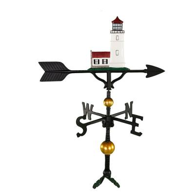 32 in. Deluxe Color Cottage Lighthouse Weathervane
