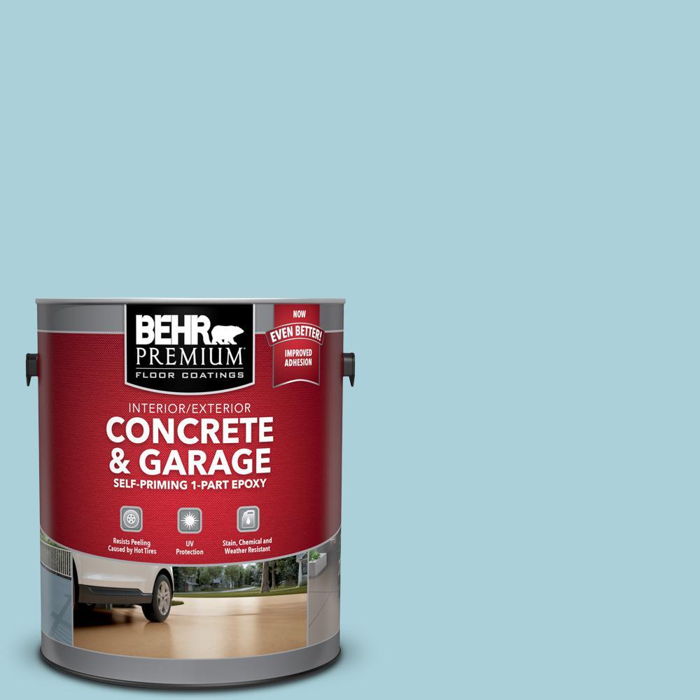 1 gal. #PFC-56 Pools of Blue Self-Priming 1-Part Epoxy Satin Interior/Exterior Concrete and Garage Floor Paint