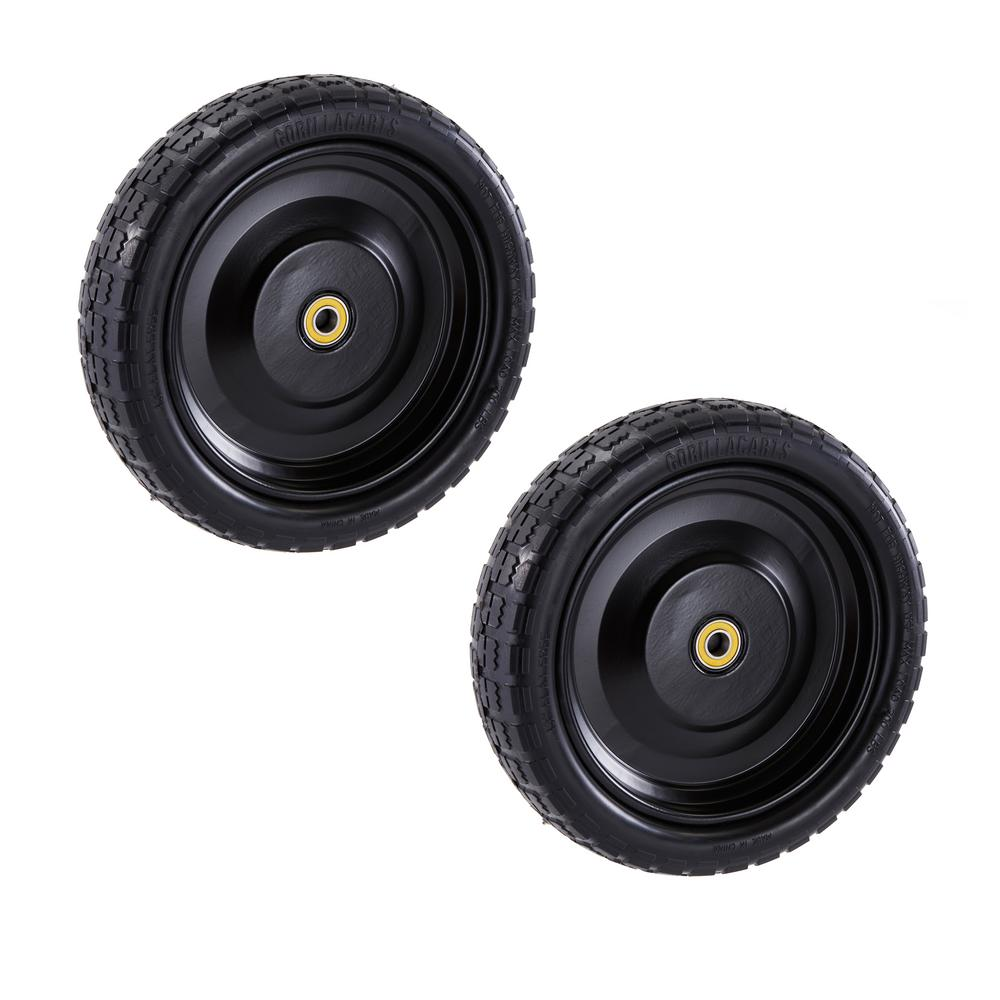 13 In No Flat Replacement Tire For Gorilla Carts 2 Pack
