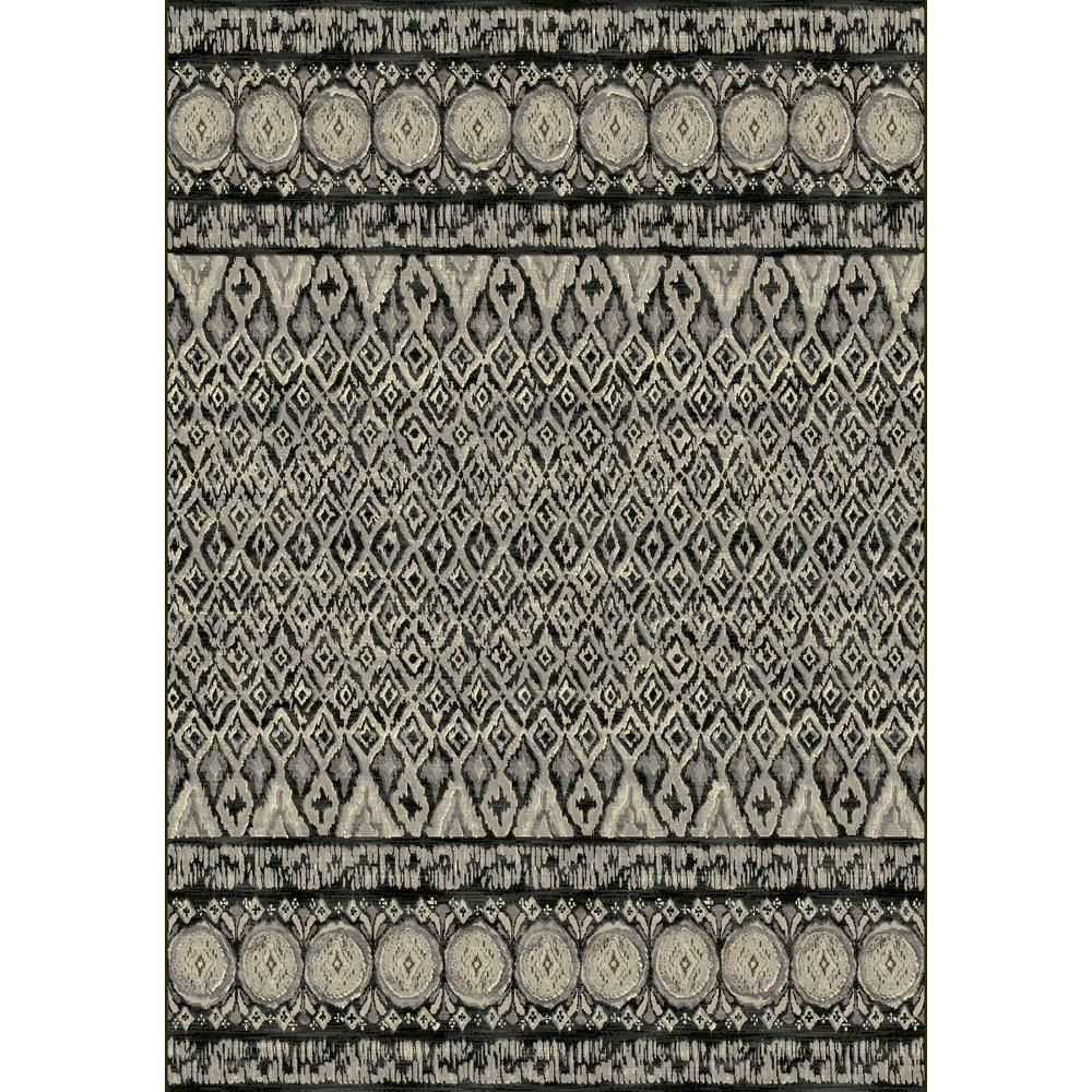 Dynamic Rugs Eclipse Grey 5 Ft 3 In X 7