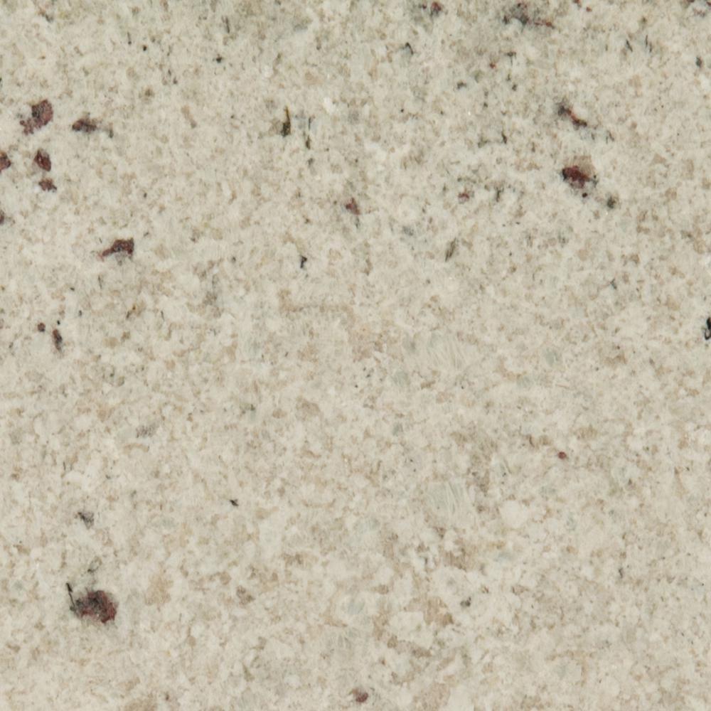 STONEMARK 3 in. x 3 in. Granite Countertop Sample in Colonial White