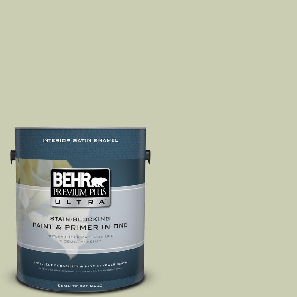 1-gal. #BIC-13 Chilled Cucumber Satin Enamel Interior Paint