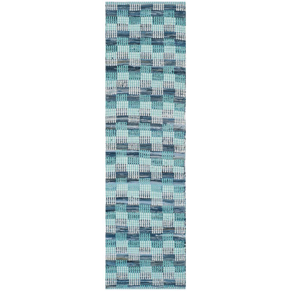 Montauk Turquoise/Multi 2 ft. 3 in. x 8 ft. Runner Rug
