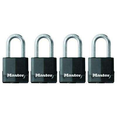 M115XQLF Magnum 1-7/8 in. Wide Covered Laminated Steel Keyed Padlock with 1-1/2 in. Extra Long Shackle (4-Pack)