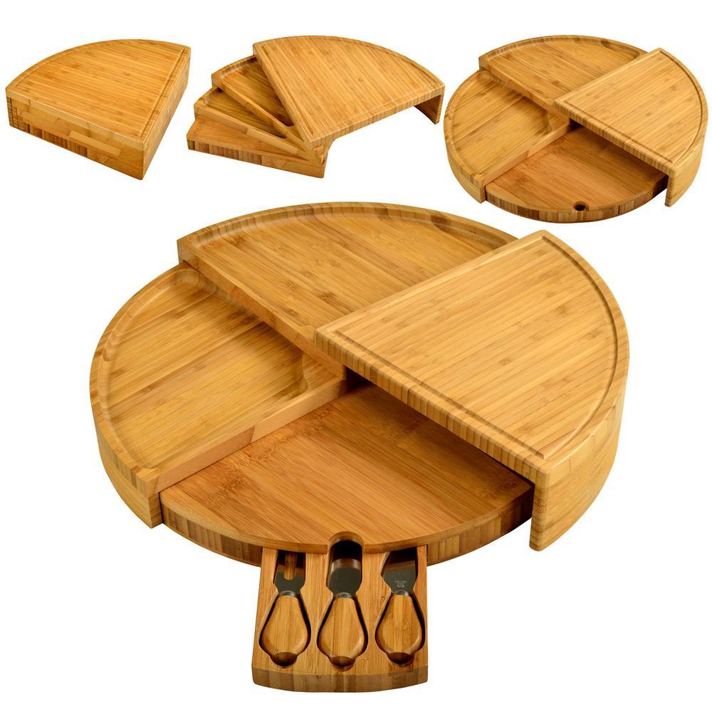 Vienna Transforming Bamboo Cheese Board Set