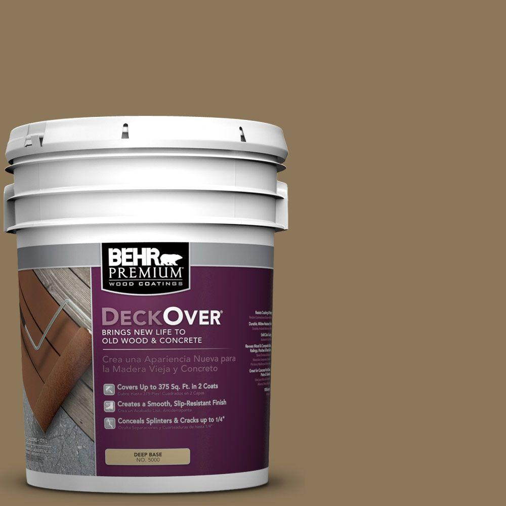 5 gal. #SC-153 Taupe Solid Color Exterior Wood and Concrete Coating