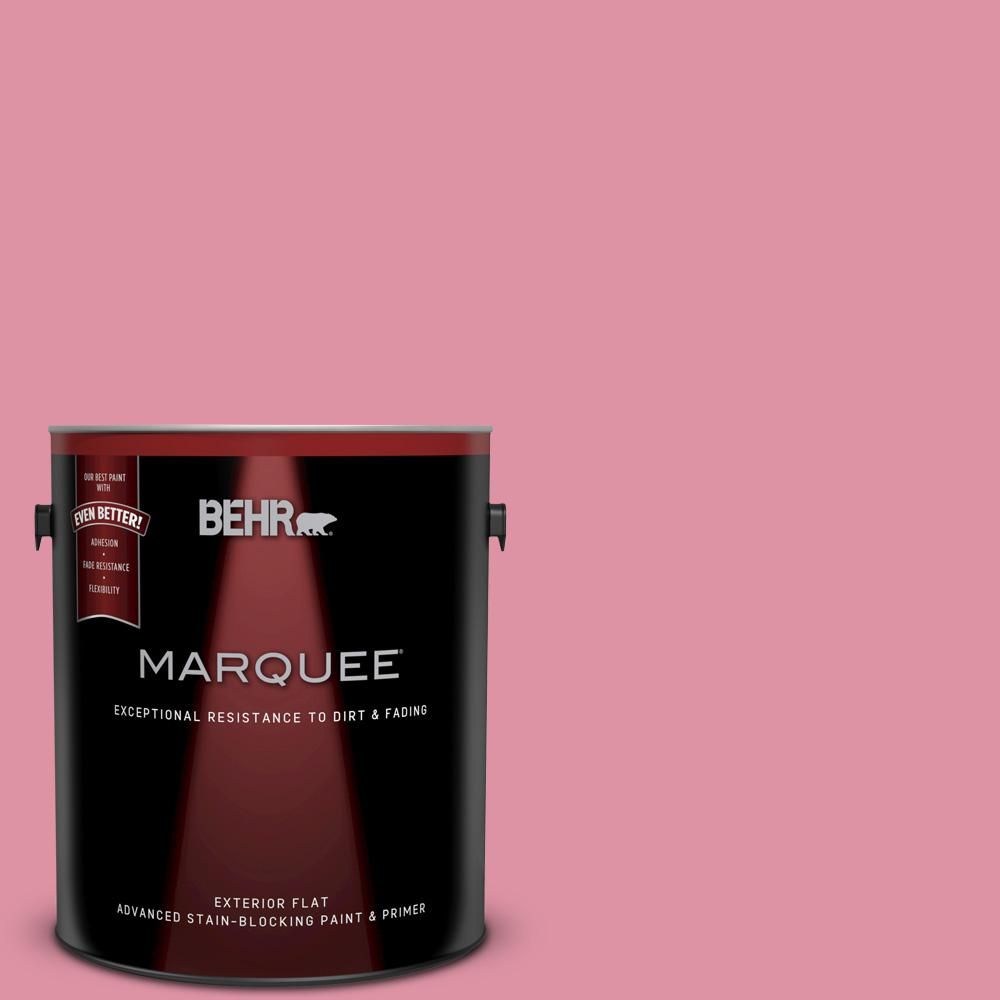 BEHR MARQUEE 1 gal. #120C-3 Rose Marquis Flat Exterior Paint and ...