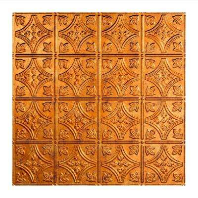 Traditional 1 - 2 ft. x 2 ft. Lay-in Ceiling Tile in Muted Gold