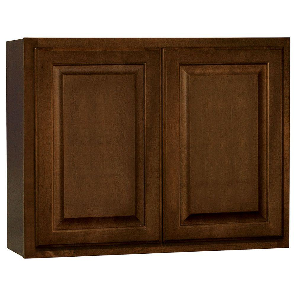 Hampton Bay Kitchen Cabinets Cognac: Hampton Bay Hampton Assembled 30x23.5x12 In. Wall Bridge