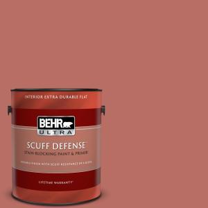 Behr Ultra 1 Gal Mq4 34 Hacienda Tile Extra Durable Flat Interior Paint Primer 172301 The Home Depot