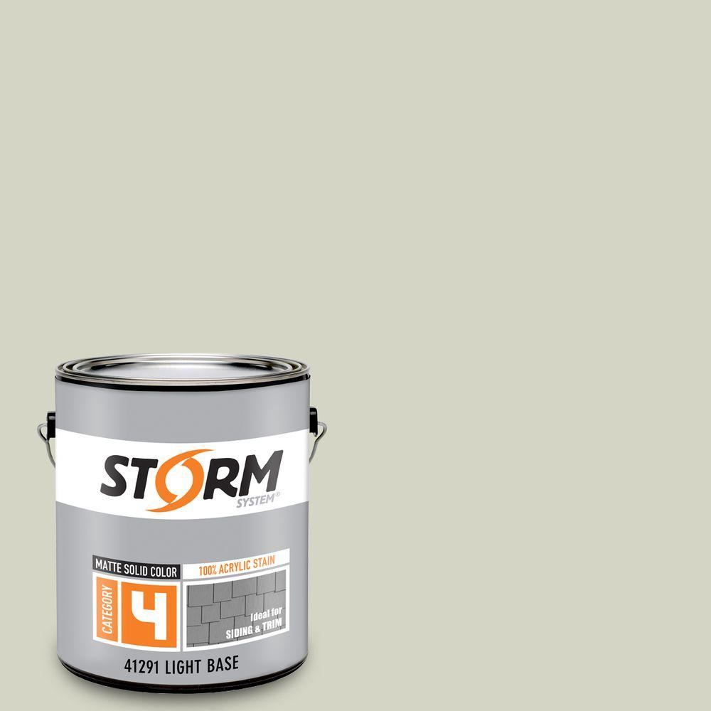 Storm System Category 4 1 gal. Summer Mint Matte Exterior Wood Siding 100% Acrylic Latex Stain