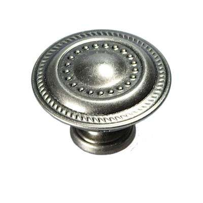 1-1/4 in. Silver Stone Furniture Knob