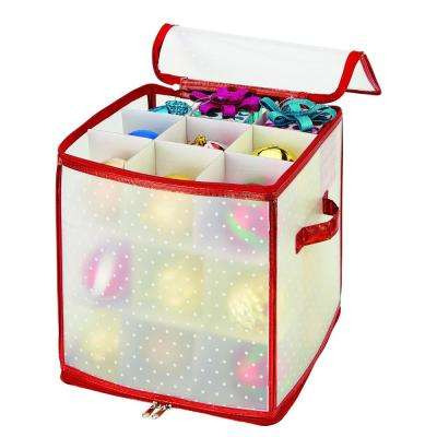 Red Nylon Ornament Organizer (27-Count)