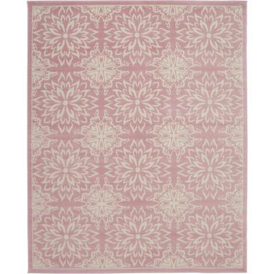 Jubilant JUB06 Pink 8 ft. x 10 ft. Large Low-Pile Area Rug