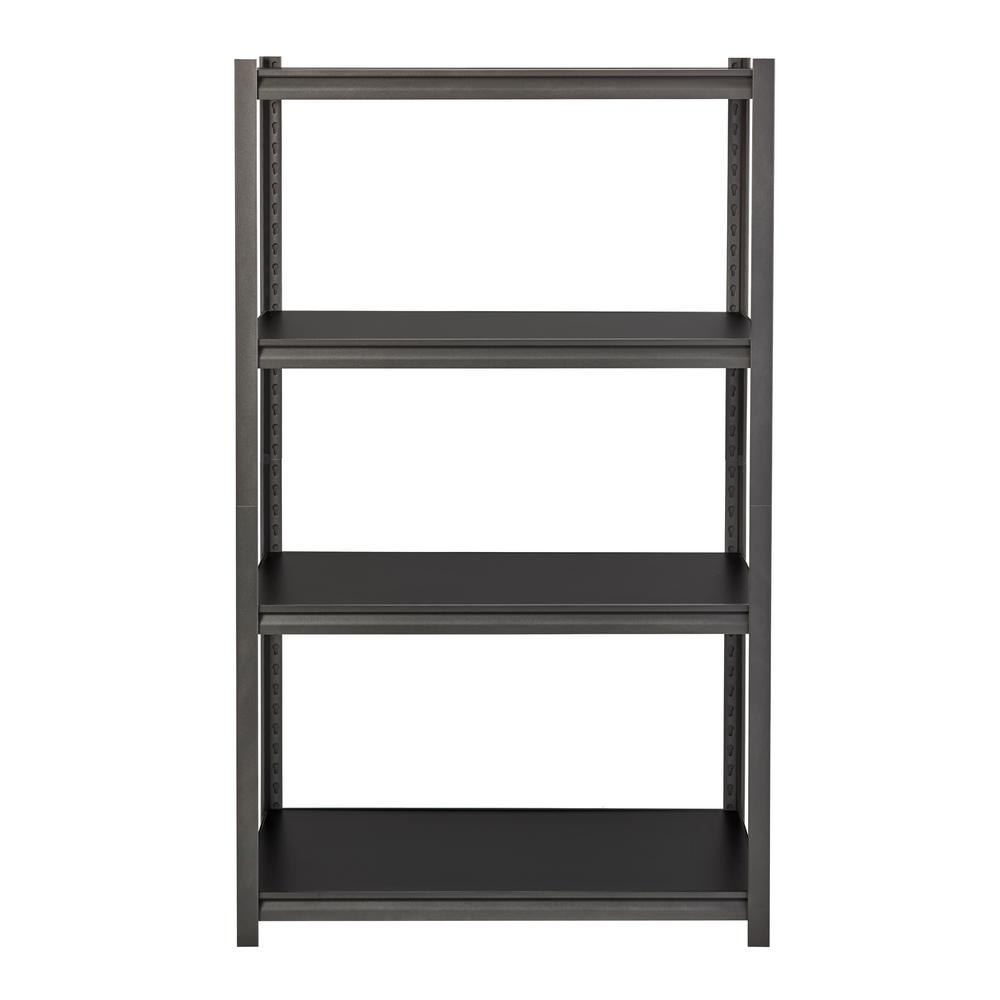 Iron Horse 3200 Series 18 in. D x 36 in. W x 60 in. H Black 4-Tier Laminate Adjustable Shelving Unit