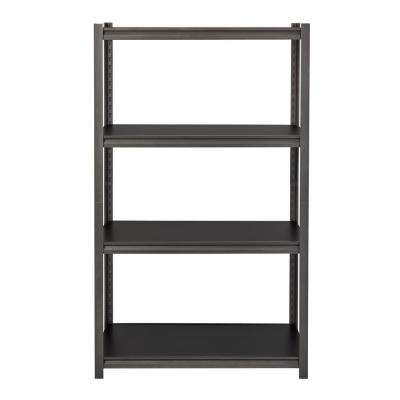 3200 Series 18 in. D x 36 in. W x 60 in. H Black 4-Tier Laminate Adjustable Shelving Unit