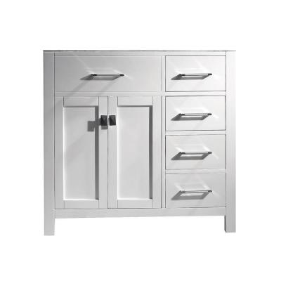 Caroline Parkway 36 in. W Bath Vanity Cabinet Only in White