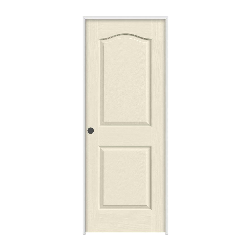 36 in. x 80 in. Camden Primed Right-Hand Textured Solid Core
