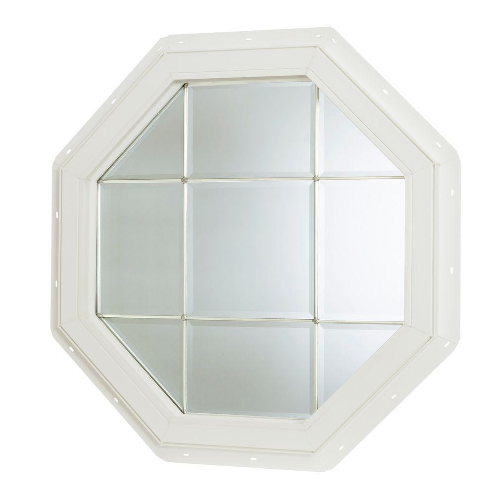 Tafco Windows 22 5 In X Fixed Octagon Geometric Vinyl Window White