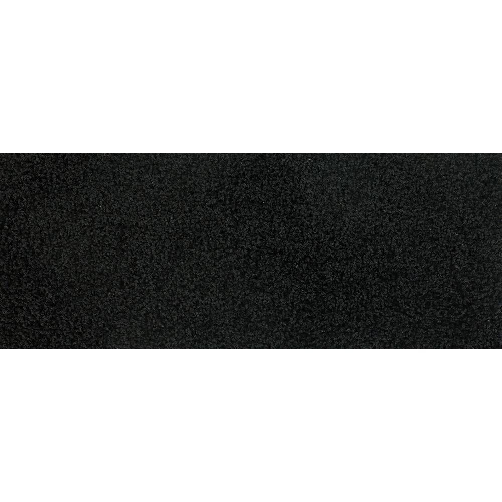 Simply Seamless Pop Culture Blackest Black 10 in. x 27 in. Traditional Padded Self Sticking Stair Tread