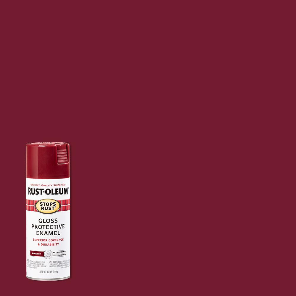 Rust-Oleum Stops Rust 12 oz. Protective Enamel Gloss Burgundy Spray Paint