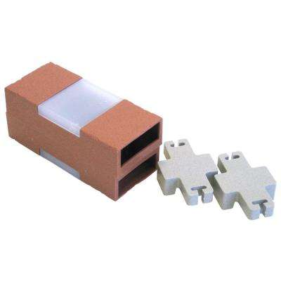 Solar Lighted Bricks with Solar Cubes and 2 Connectors for Let's Edge It! Plastic Brick Edging (Set of 2)