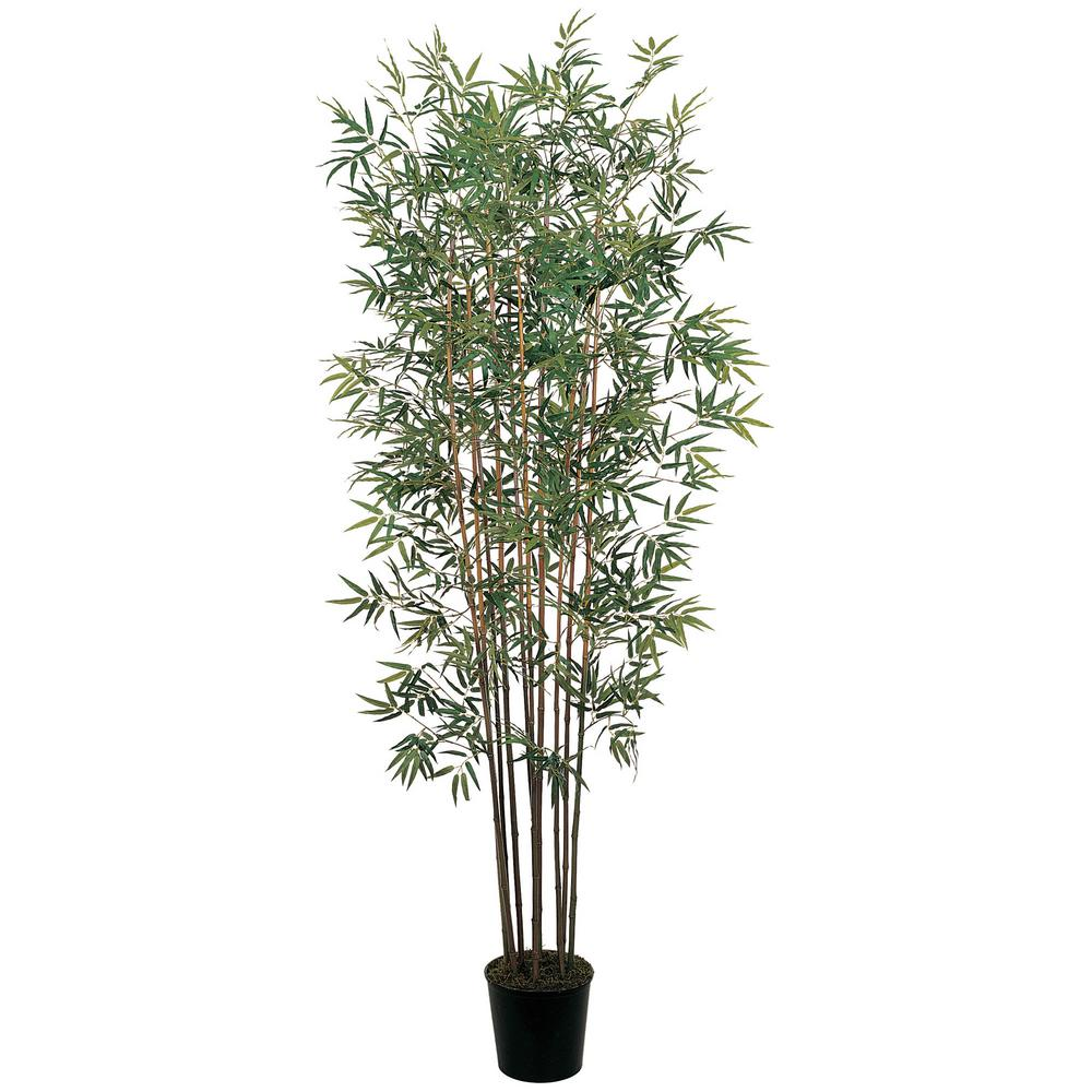 Nearly Natural 6 ft. Mini Bamboo Silk Tree, Green