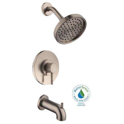 Axel Single-Handle 1-Spray Tub and Shower Faucet in Brushed Nickel