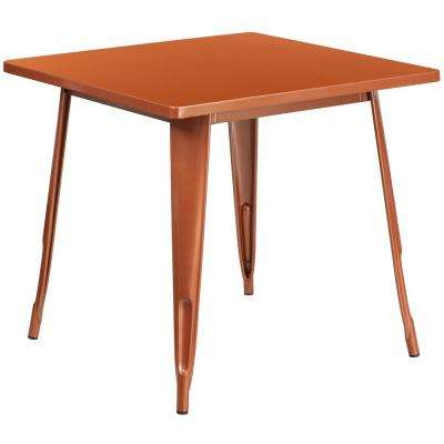 Copper Square Metal Outdoor Bistro Table