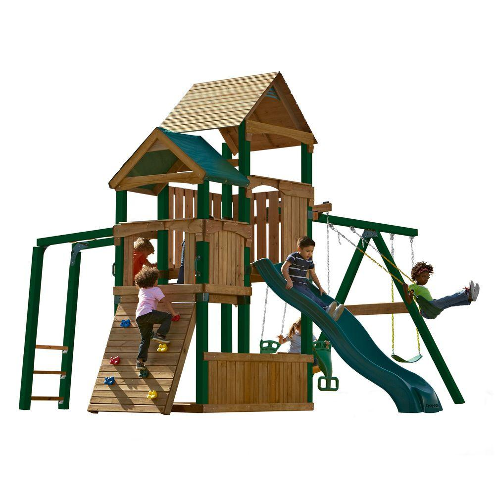 Swing-N-Slide Playsets Sky Tower Play Set with Alpine Slide and Tuff Wood