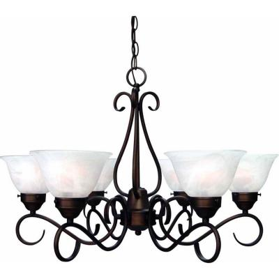 Minster 6-Light Antique Bronze Interior Chandelier