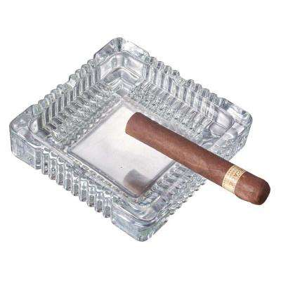 Akiro Square Clear Glass Cigarette Ashtray