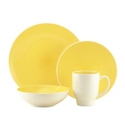 16-Piece Ovi Lemon Stoneware Dinnerware Set (Service for 4)