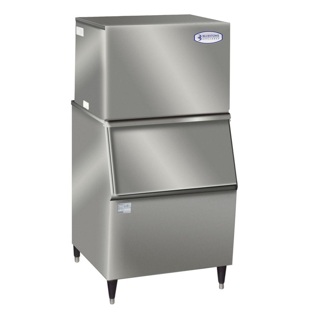 Bluestone Appliance 30 in. W 460 lb. Commercial Ice Maker (with Bin) in Stainless Steel -DISCONTINUED
