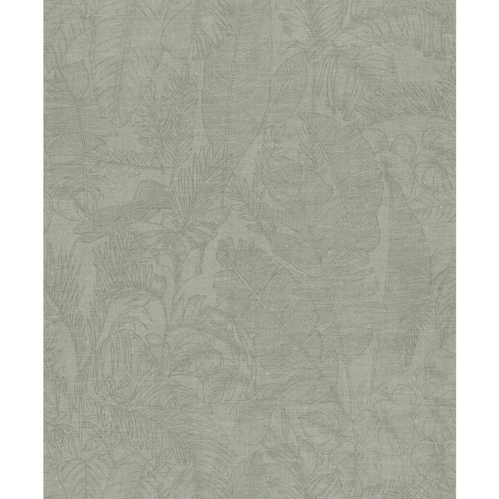 Green Linen Jungle Wallpaper
