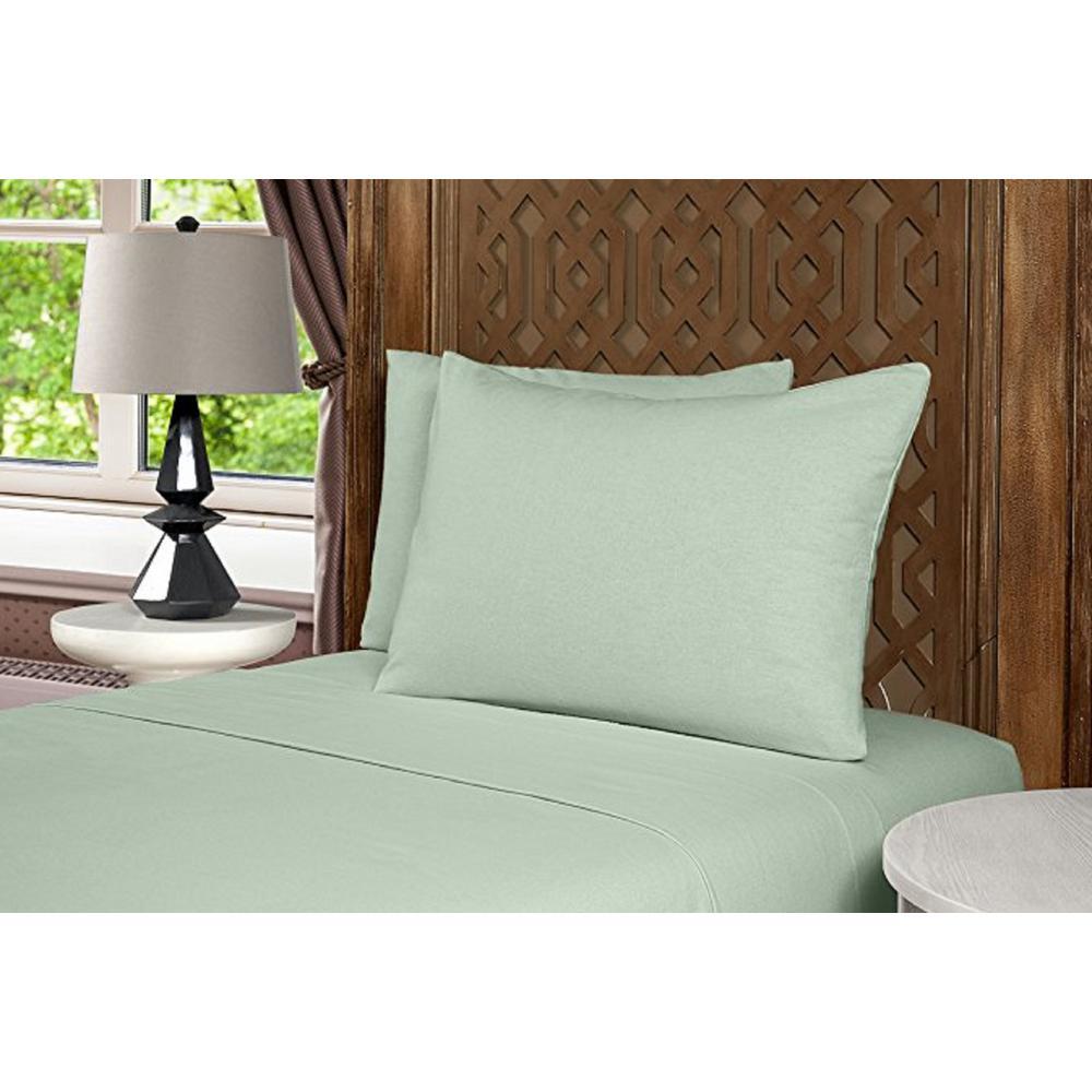 Geraldine 100% Cotton Sage Flannel King Sheet Set